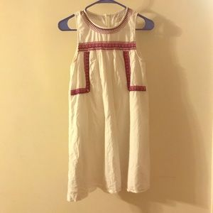 Loft white and magenta dress